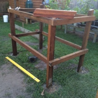 Hardwood framework up